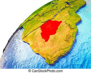 Botswana on 3D Earth