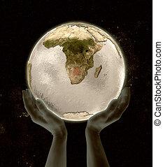 Botswana on globe win hands