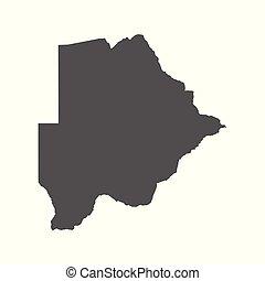 Botswana vector map. Black icon on white background.