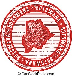 Botswana Vintage Country Stamp for Tourism
