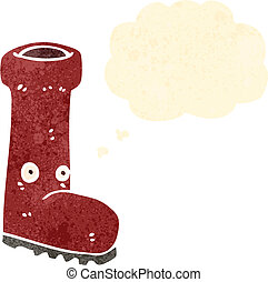 botte caoutchouc, dessin animé