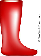 botte caoutchouc, rouges