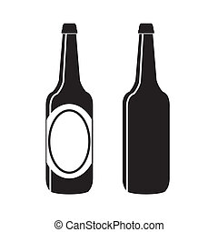 bottiglia, birra, vettore