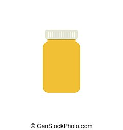 bottiglia, capsules., pillola