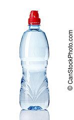 bottiglia di plastica, di, acqua