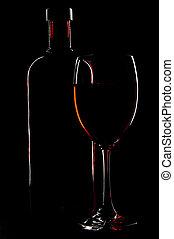 bottiglia, e, vetro