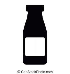 bottiglia medicina, icona