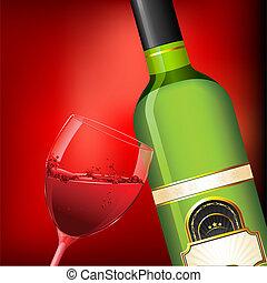 bottiglia vetro, vino