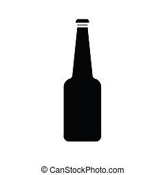 bottiglia, vettore, vetro, silhouette