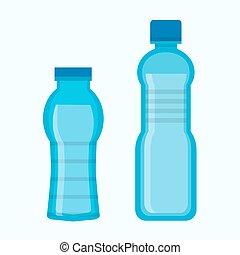 bottiglie acqua, due