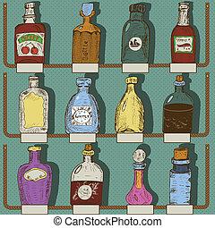 bottiglie, collezione