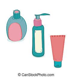 bottiglie, cosmetico