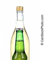 bottiglie, due, alcool