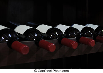 bottiglie liquore, negozio, vino