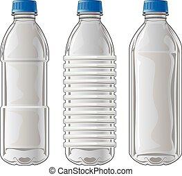bottiglie, plastica