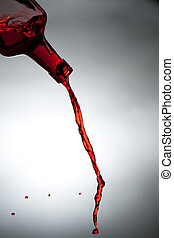 bottle., アルコール, 流れ