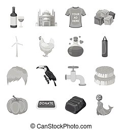 Bottle, alcohol, wine and other web icon in monochrome style. Building, castle, mosque icons in set collection.