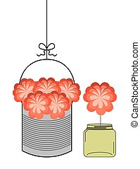 bottle and flower