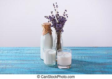 fresh milk with lavender