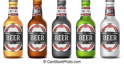 Green Beer Bottle Label Template Saint Patricks Bottle Vector - Beer bottle label template