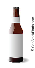 Bottle beer - Vector illustration of bottle beer is isolated...