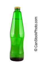 Bottle beer isolated on white