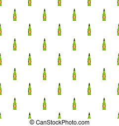 Bottle beer pattern seamless