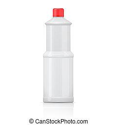 bottle., blanco, lejía
