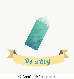 bottle blue illustration over white color background
