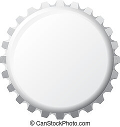 Bottle cap - a grey coloured bottle cap isolated on a white ...