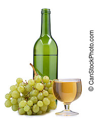 Bottle cap and grapes