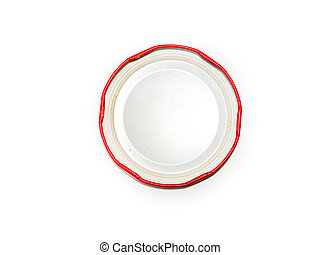 Bottle cap on a white background.