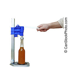 bottle capping machine on table - Manual capping machine for...