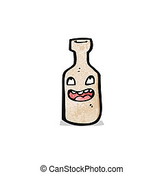 bottle cartoon character
