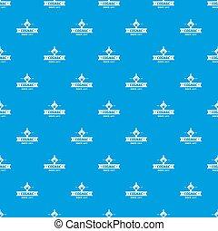 Bottle cognac pattern seamless blue