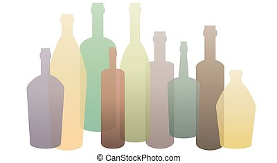 Bottle. Container for liquids with long narrow neck.