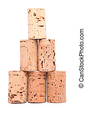 Bottle corks - pyramid