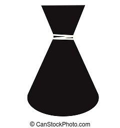 Bottle flat illustration on white