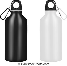 Bottle for drinking on a white background.Vector illustration.