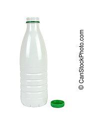 Bottle for Milk on White
