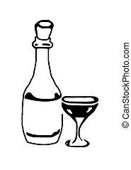 bottle glass - bottle and glass