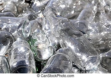 bottle glass recycle mound pattern background