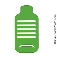bottle green ecology icon