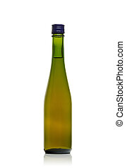 Bottle green glass with beer