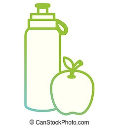 bottle gym with apple