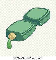 Bottle icon, cartoon style