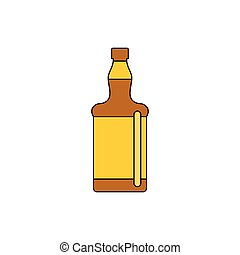 bottle icon, cartoon style