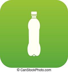 Bottle icon digital green