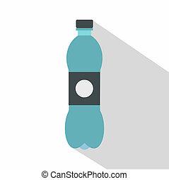 Bottle icon, flat style