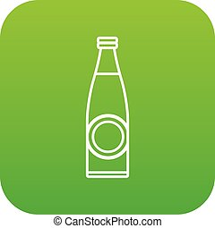 Bottle icon green vector